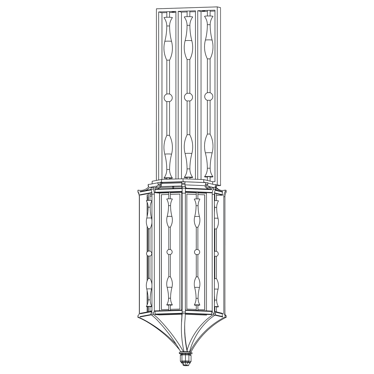 Exterior Flush Wall Sconce