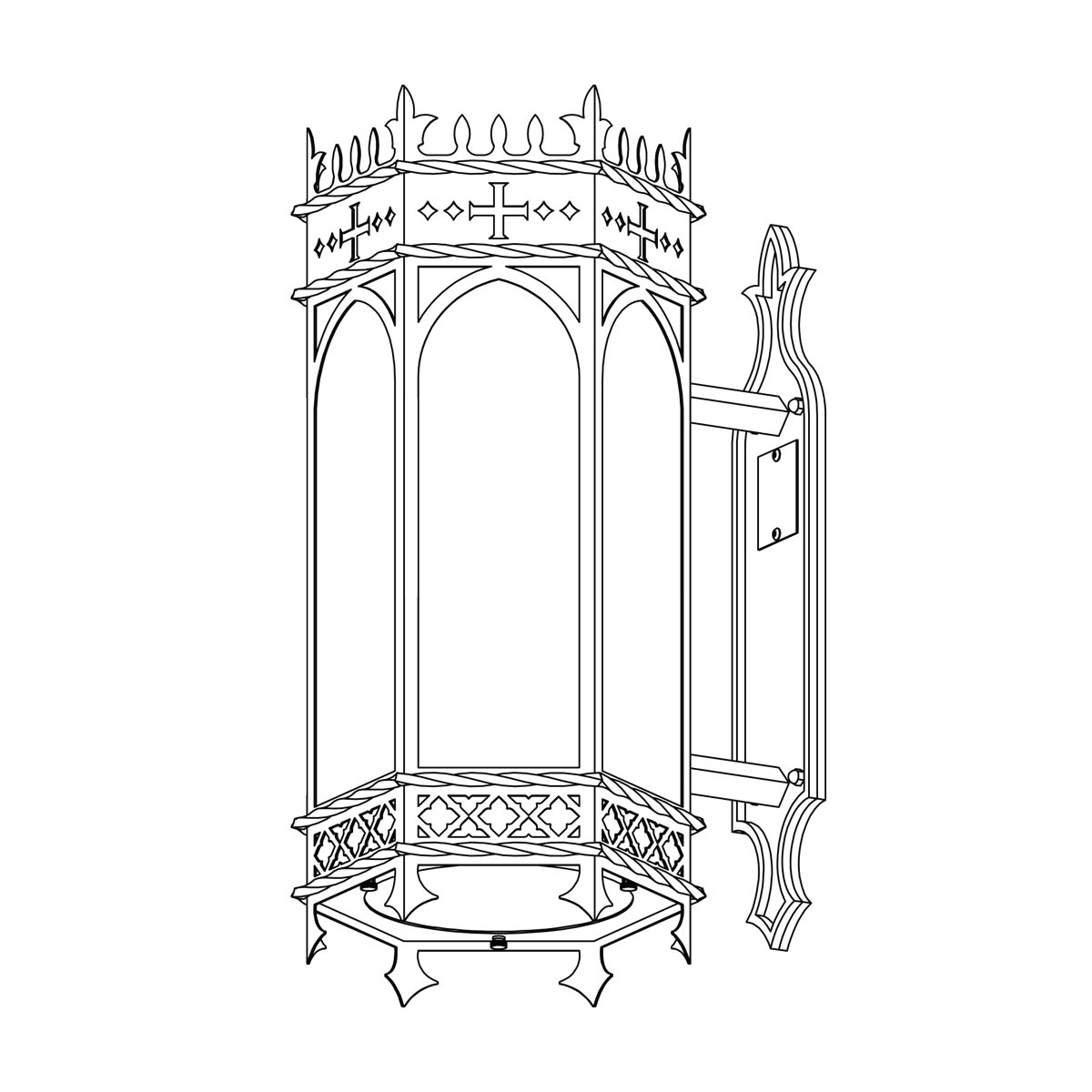 Exterior Modified St. Dunstan's Bracket Sconce