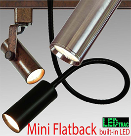 Mini Flatback LED Goosneck Track Lights