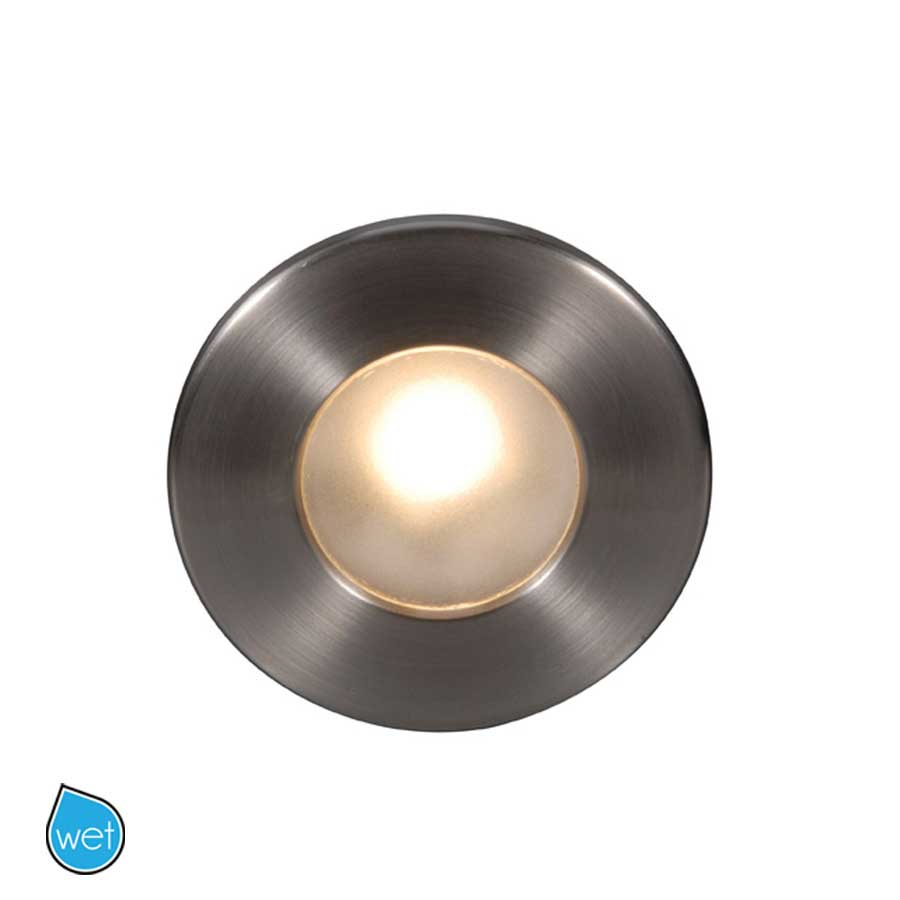 120V LEDme Round Outdoor Step Light