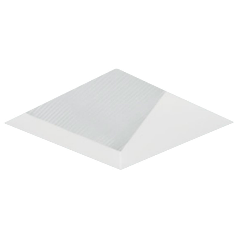2 Inch Square Flangeless Lensed Wall Wash Trim