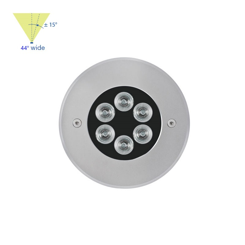 Mini 1200 Stainless Steel - Adjustable - 6 LED - Drive Over