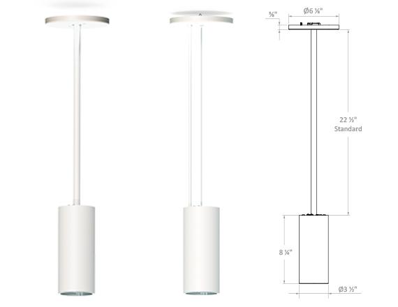 Solais XC3 Cylinder | 500 - 900 Lumen