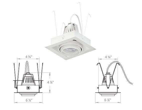 Solais Amerlux Retrofit XSR-Xm24 RMs | 1400 - 2400 Lumens  -  Head