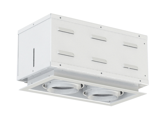 Solais XSR12  -  low to medium output | Integrated LED Semi-Recessed Multiple