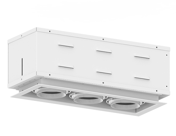 Solais XSR13  -  low to medium output | Integrated LED Semi Recessed Multiple