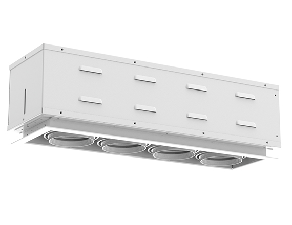 Solais XSR14  -  low to medium output | Integrated LED Semi Recessed Multiple