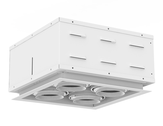 Solais XSR22  -  low to medium output | Integrated LED Semi Recessed Multiple