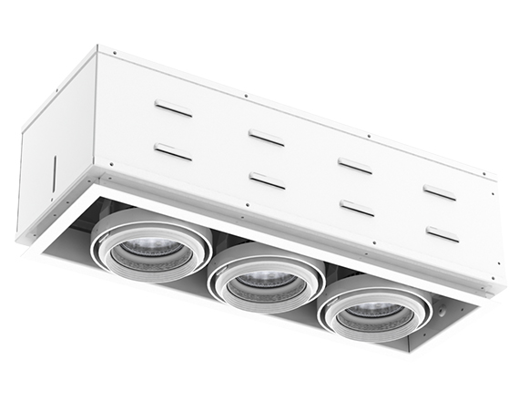 Solais XSR13-30  -  Super high output | Integrated LED Semi Recessed Multiple