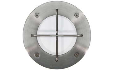 "Passo CR 4"" Stainless Steel Soft Glow With Guard LED Recessed Wall Luminaire"