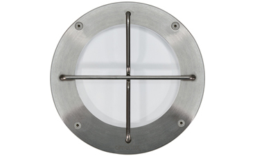 "Passo CR 6"" Stainless Steel Soft Glow With Guard LED Recessed Wall Luminaire"
