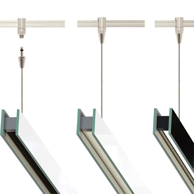 Glide Glass Downlight Suspension For Monorail