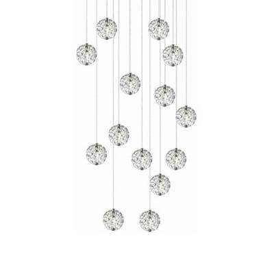 LED Bubble Ball 14 Light, Linear Canopy
