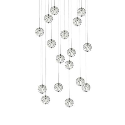 LED Bubble Ball 17 Light, Linear Canopy