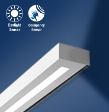 Series 18 Wall Mount  High-performance, Rectilinear,Indirect - Direct Luminaire