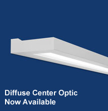 Series 16WM Wall-mount, High-performance, Rectilinear Indirect - Direct Luminaire