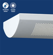 Series 12-P  Softly Curved, Perforated Luminaire