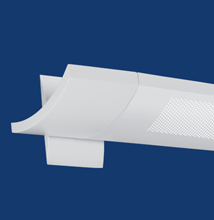 Series 12WM-P Wall-mount, Softly Curved, Perforated Luminaire