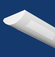 Series 6C-P Curved, Perforated Luminaire for T5 - T5HO Lamps