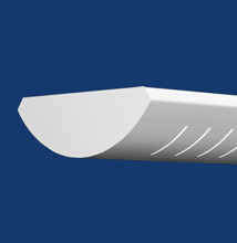 Series 6C-S Curved, Slotted Luminaire for T5 - T5HO Lamps