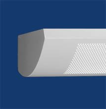 Series 5-WM Wall-mount, Curved, Low-profile, Perforated Luminaire