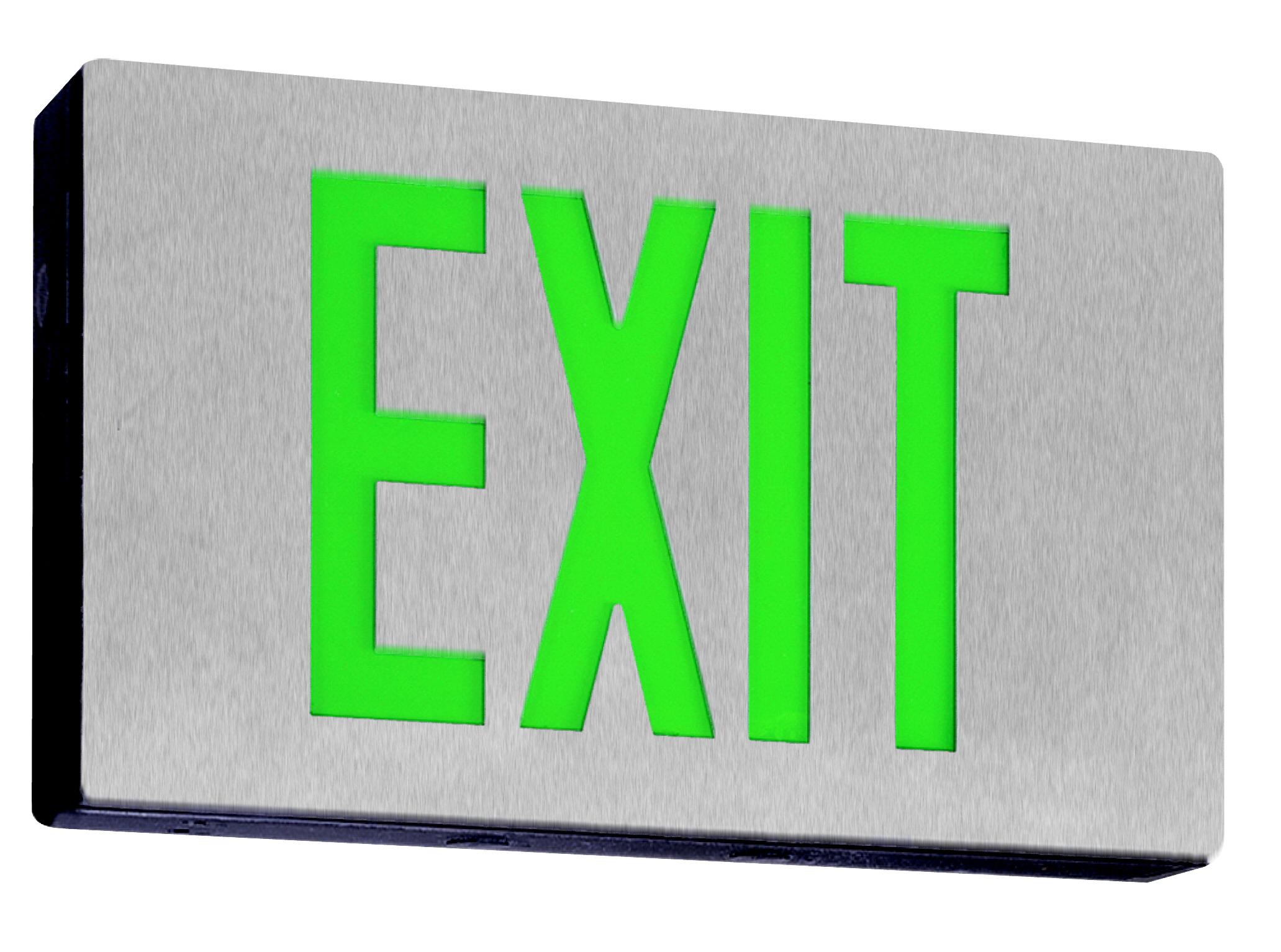 LED Low Profile Double-Face Die Cast Exit Sign