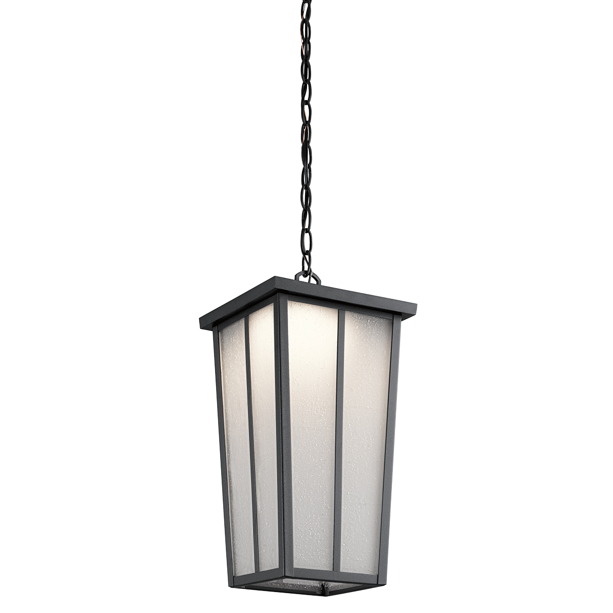 Amber Valley Collection; Amber Valley LED Outdoor Pendant in BKT