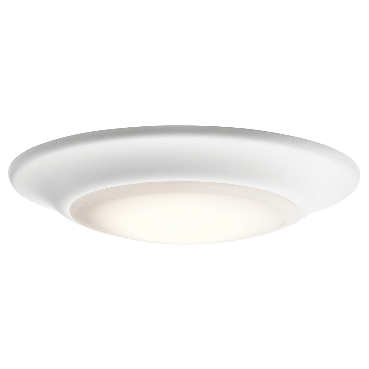 1 Light 3000K LED Flush Mount WH