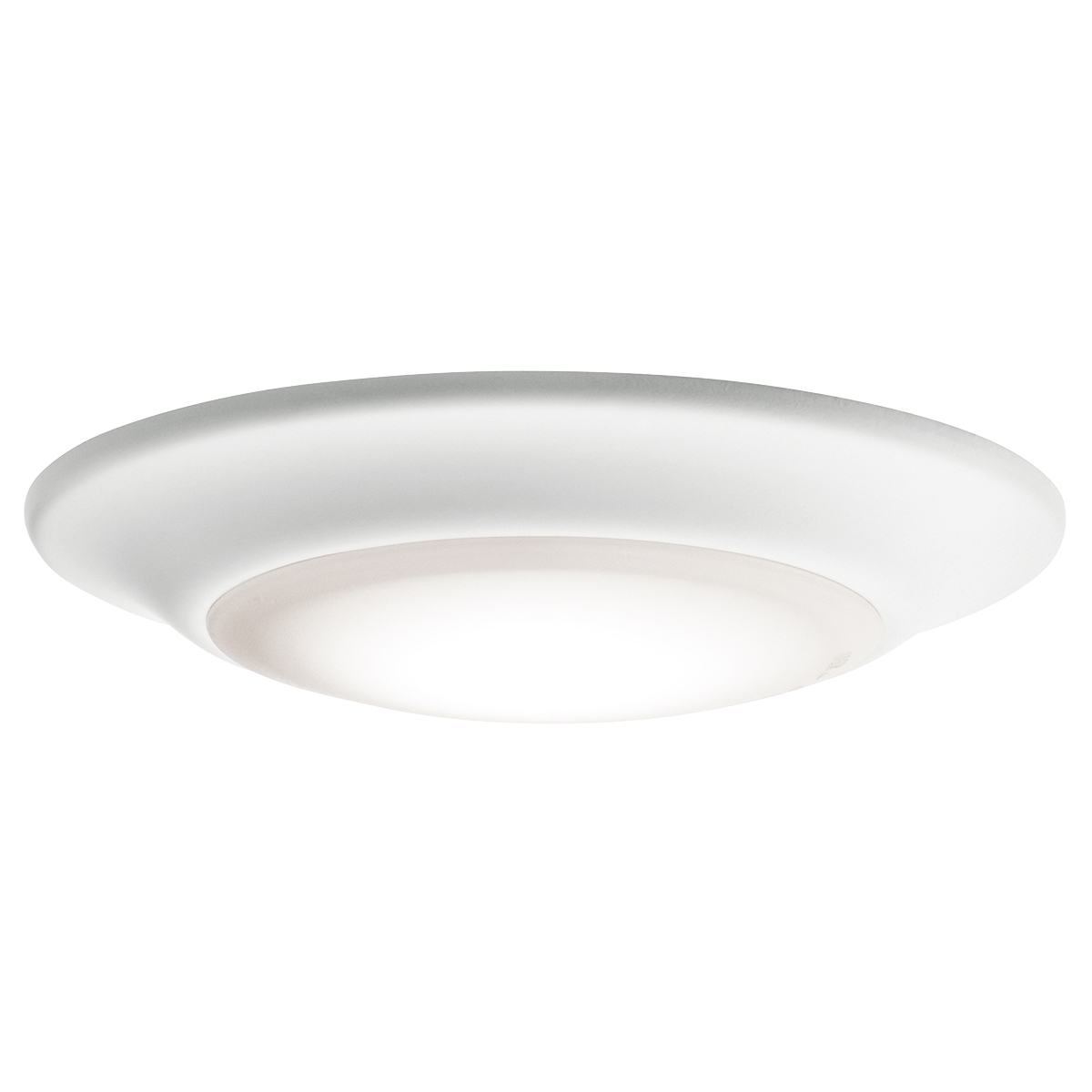 1 Light Low Profile 3000K LED Downlight WH