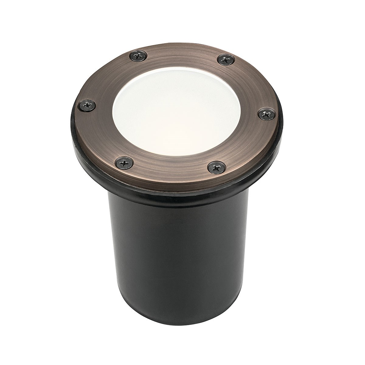 12V Brass In-Ground Light with Frosted Glass CBR