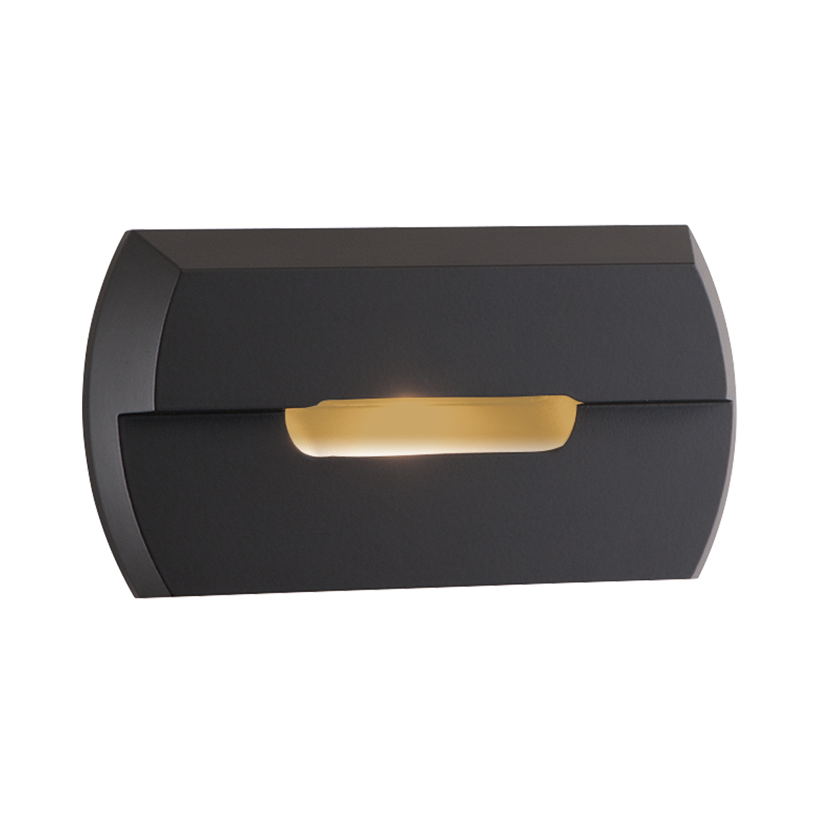 "2-1 - 2"" x 4-3 - 4"" Amber LED Step Light, Bronze Finish"