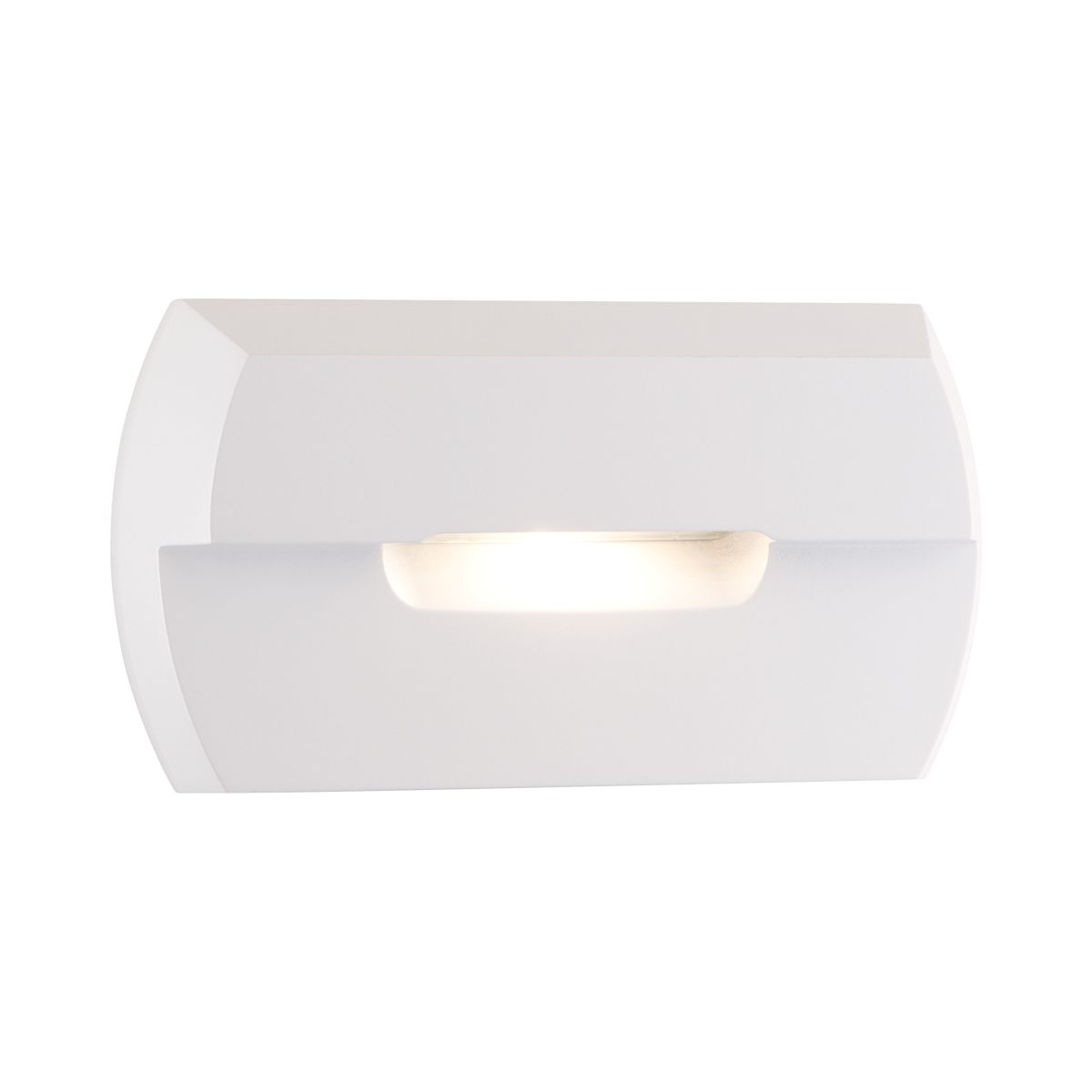 "2-1 - 2"" x 4-3 - 4"" Amber LED Step Light, White Finish"