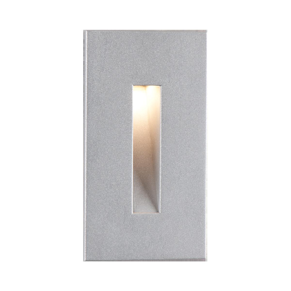 "4-1 - 2"" x 2-1 - 2"" LED Step Light, Silver Metallic Finish"