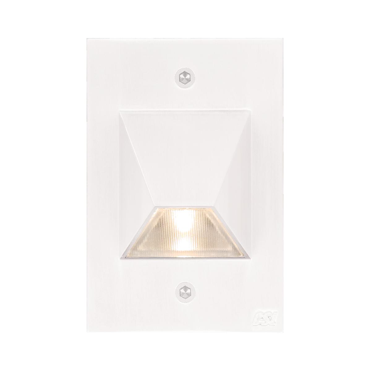 "4-1 - 2"" x 3"" LED Step Light, White Finish"