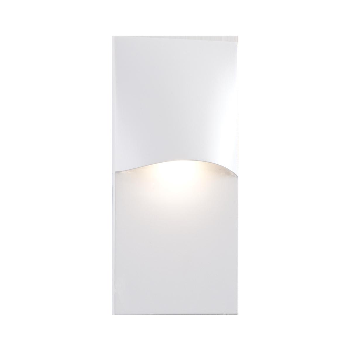 "4-3 - 4"" x 2-1 - 2"" LED Step Light, White Finish"