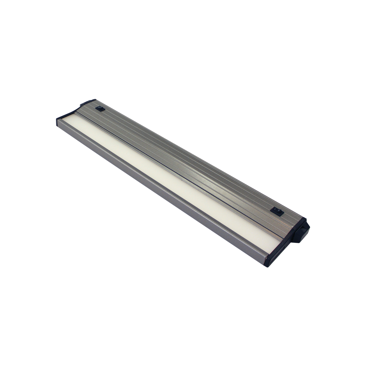 "16"" Eco-Counter LED Undercabinet, Satin Aluminum Finish, Dual Switchable CCT"