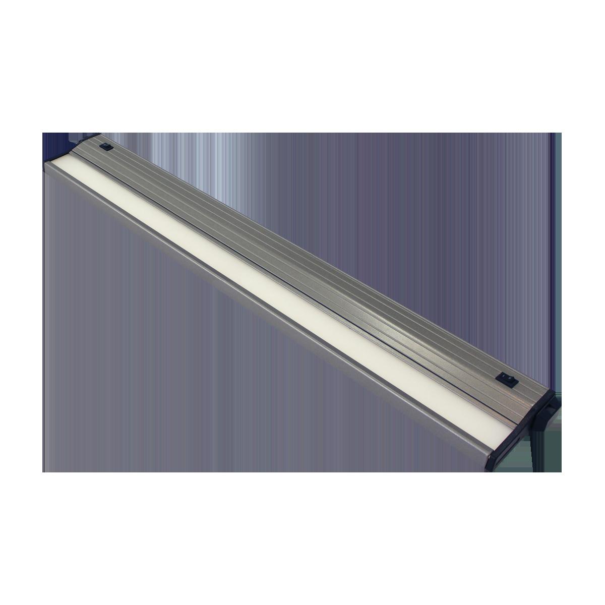"""24"""" Eco-Counter LED Undercabinet, Satin Aluminum Finish, Dual Switchable CCT"""