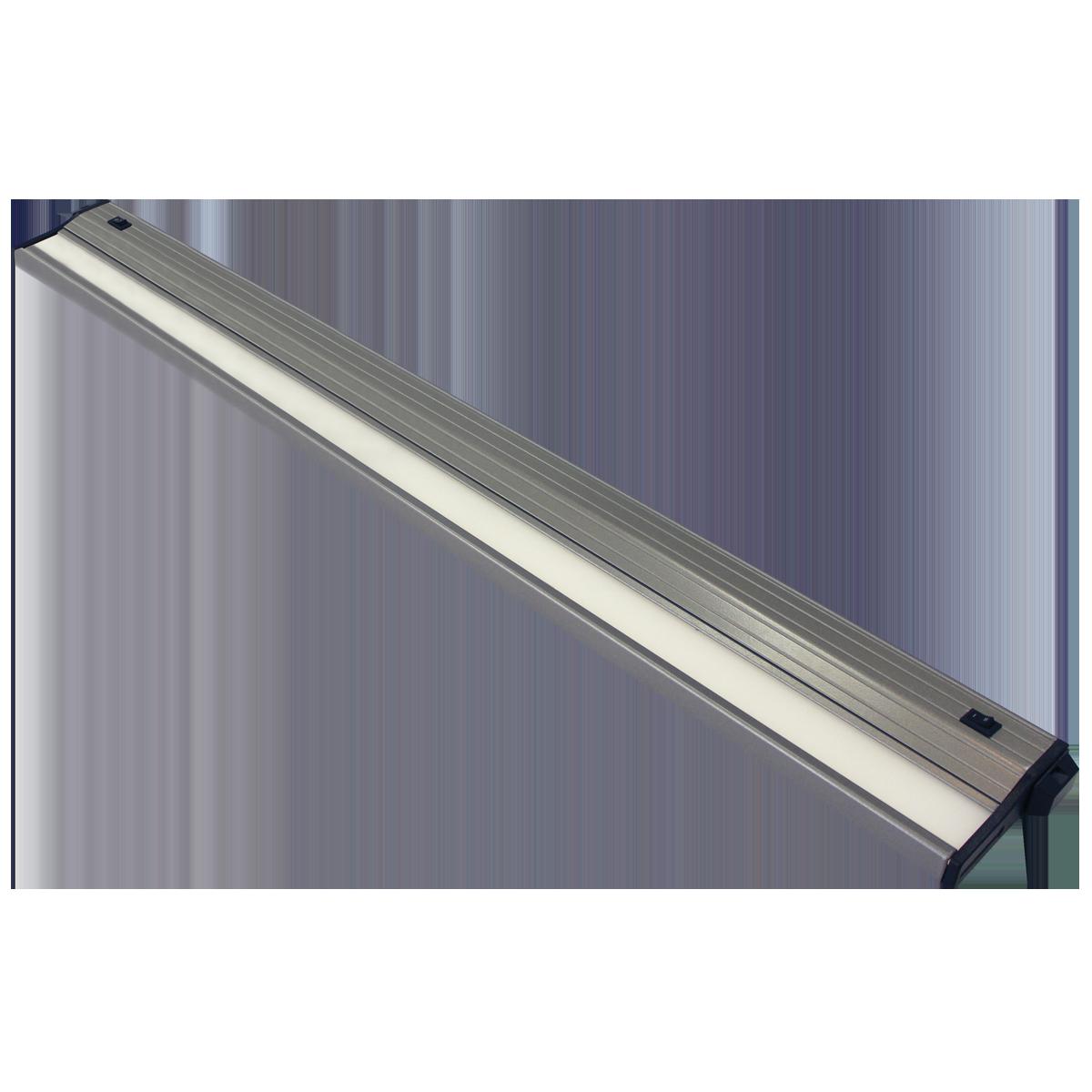 """32"""" Eco-Counter LED Undercabinet, Satin Aluminum Finish, Dual Switchable CCT"""