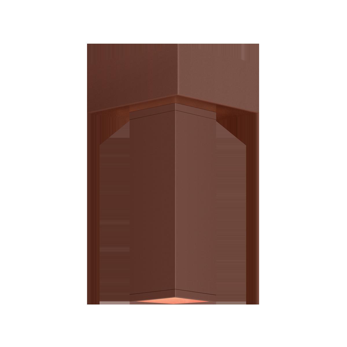 "2"" Square LED Flush Mount Cylinder, 3500K  -  90 CRI"