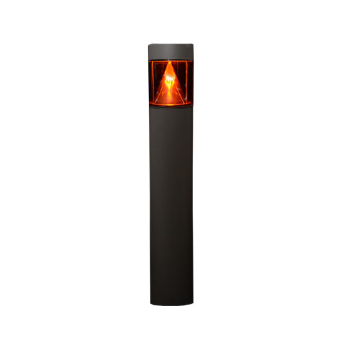 DuraLED Amber Flat Top Bollard with LED Cone Reflector