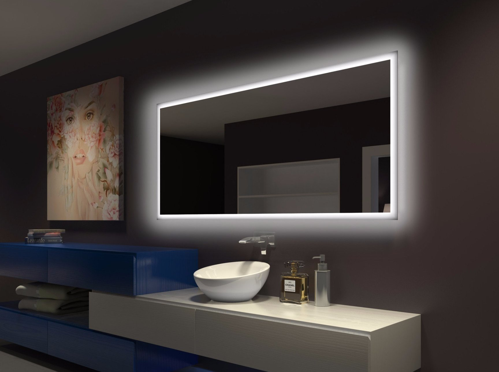 Dimmable Backlit Mirror Harmony 70 X 32 in