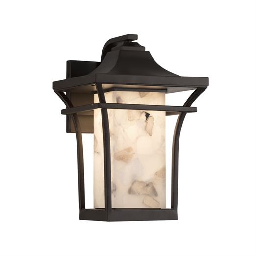 Alabaster Rocks!™Summit Small 1-Light Outdoor Wall Sconce