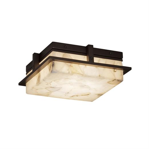"Alabaster Rocks!™Avalon 10"" Small LED Outdoor - Indoor Flush-Mount"