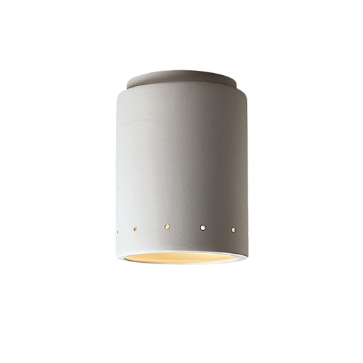 CeramicsCylinder w -  Perfs Flush-Mount Outdoor