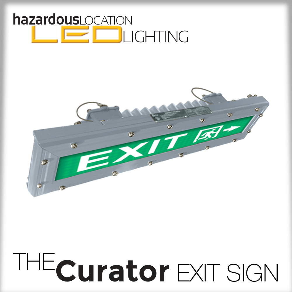 The Curator HazLoc Exit Sign