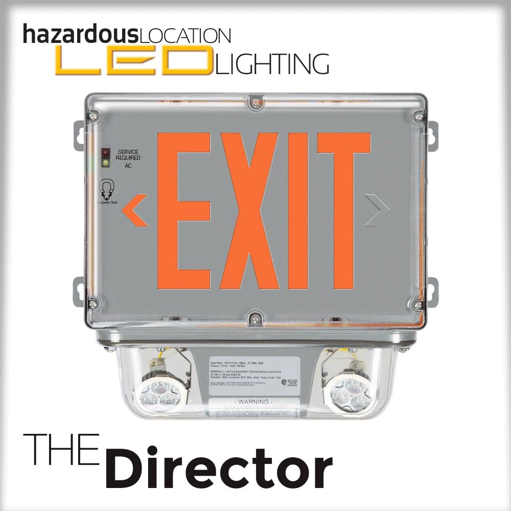 The Director HazLoc Exit Light