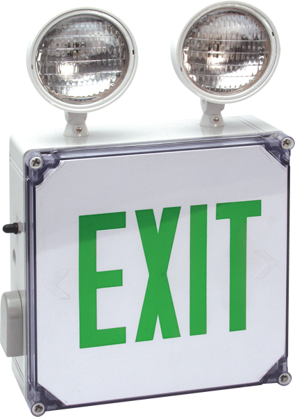 EXIT - EM - WET Wet Location Exit & Emergency Light