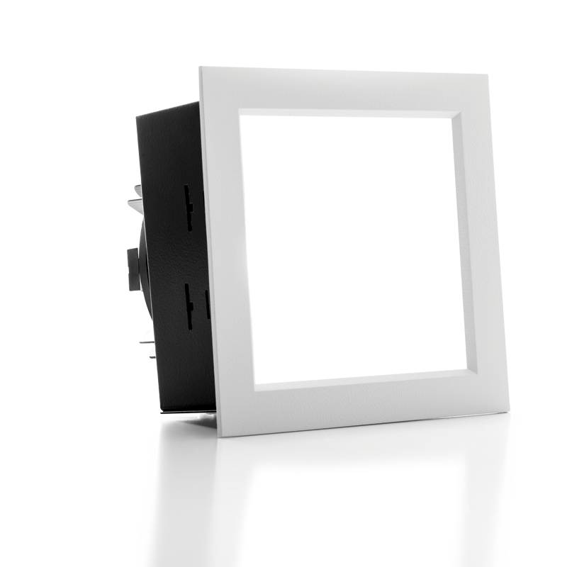 "4PS 4.5"" Shallow Plenum Downlight  Square"