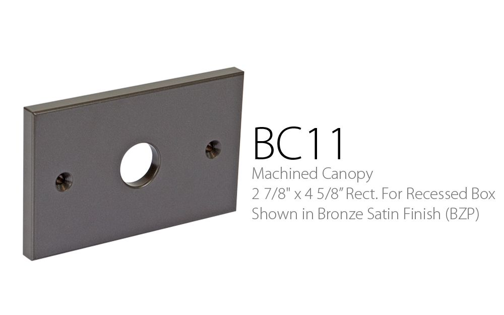 BC 11 Machined Canopy 2-7 - 8 x 4-5 - 8 For Surface Box