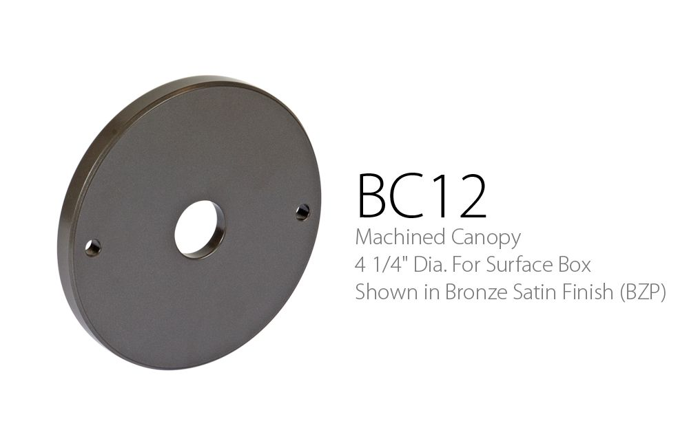 BC 12 Machined Canopy 4-1 - 4 Dia. For Surface Box
